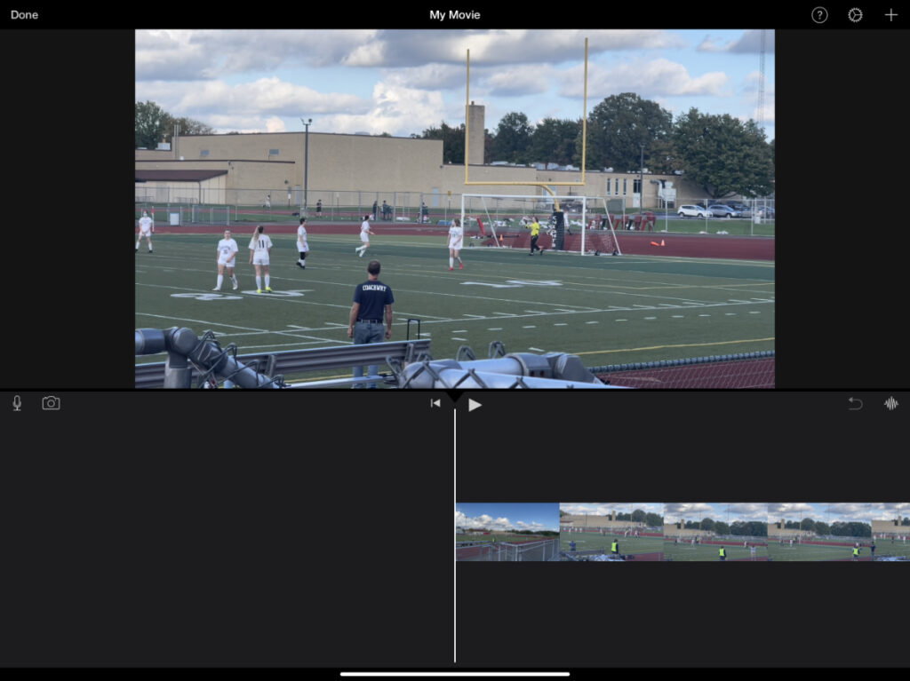 an iMovie project in iMovie for iOS