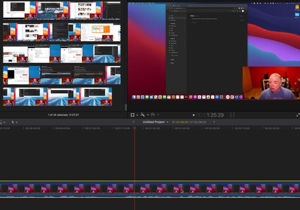 Select video clip in final cut pro